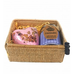 Lavender & Rose Petals Bath Spa Gift Set
