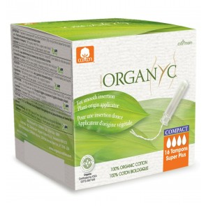Organyc Compact Tampons Super Plus with Applicator Organic Cotton