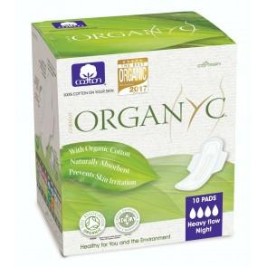 Organyc Sanitary Pads Heavy Flow Night Box of 10