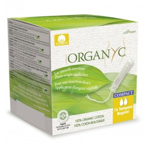 Organyc Compact Tampons Regular with Applicator Organic Cotton 16 x pack