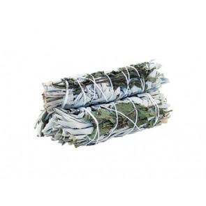 White Sage & Peppermint Smudge Stick 10cm