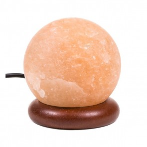 Mini Himalayan Salt Lamp Sphere orange USB + LED