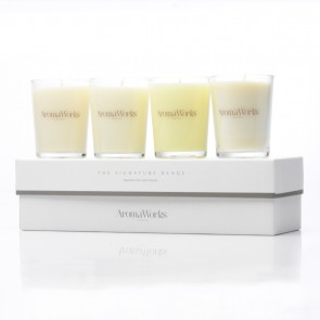 Aromaworks Signature Candle Box 4 x 10 cl