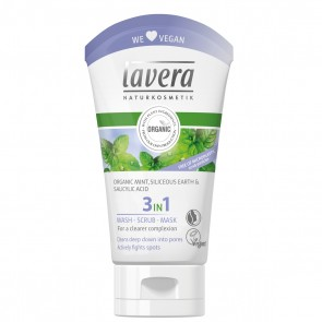Lavera 3 in 1 Organic Face Wash Scrub & Mask