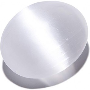 Selenite Palm Stone Energy Charged