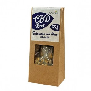 Somnio Hemp Brew Blended Tea Relax & Sleep bags 30g- 45mg