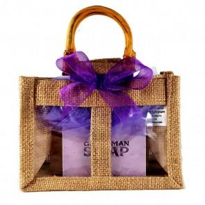 Handmade Soap & Dish Jute Bag