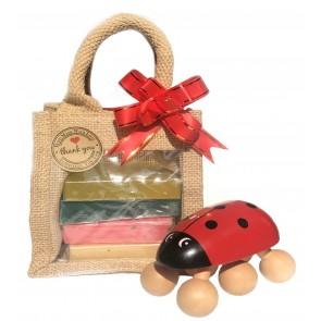 Soaps & Wooden Massager Gift Set