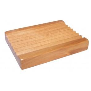 Hemu Wooden Soap Dish Groovy