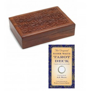 Wooden Sheesham Box & Tarot Card Set