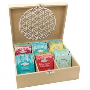 Flower of Life Tea Box & Chakra Tea Gift Set