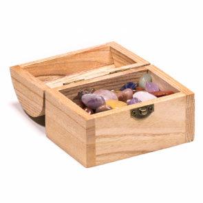 Treasure Chest Box with Gems Stones