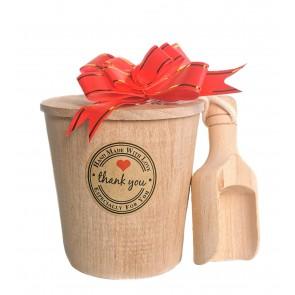 Himalayan Bath Salts Wooden Tube & Spoon Gift Set
