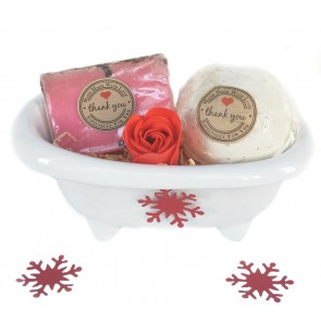 Ceramic Rose & Vanilla Detox Bath Gift Set