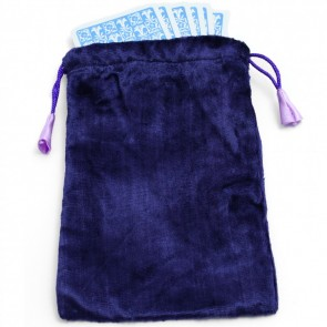 Large Velvet Purple Tarot Angel Card Bag