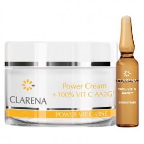 Clarena Power Pure Vit C Cream + 1.5 ml of 100% Vitamin C